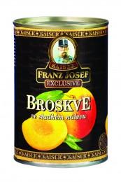 F.J.Kaiser Broskve v mírně sladkém nálevu