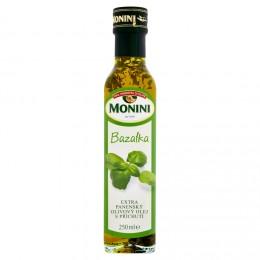 Monini Olej olivový s bazalkou
