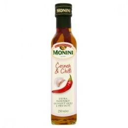 Monini Extra panenský olivový olej s příchutí - Česnek a Chilli