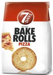 7Days Bake Rolls Křupavé chlebové chipsy s příchutí pizzy