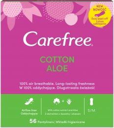 Carefree Cotton Aloe vera slipové vložky