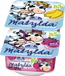 Matylda Bio tvaroh s jogurtem (banán+malina) Pack