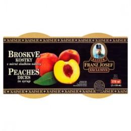 F.J.Kaiser Broskve kostky v mírně sladkém nálevu Pack