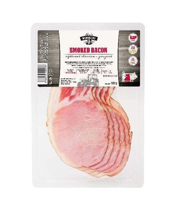 Lehce zauzená výběrová slanina - Smoked Bacon Naše Miroslav