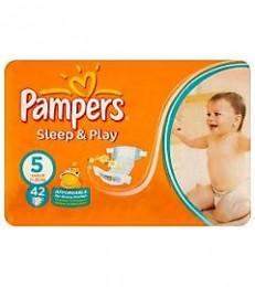 Pampers Sleep & Play Junior (velikost 5) dětské pleny 42 ks