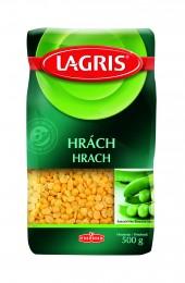 Lagris Hrách žlutý půlený loupaný