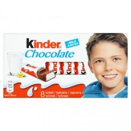 Kinder Chocolate tyčinky z mléčné čokolády s mléčnou náplní