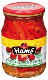 Hamé paprika červená řezaná sterilovaná