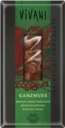 VIVANI Mléčná čokoláda s lískovými oříšky BIO