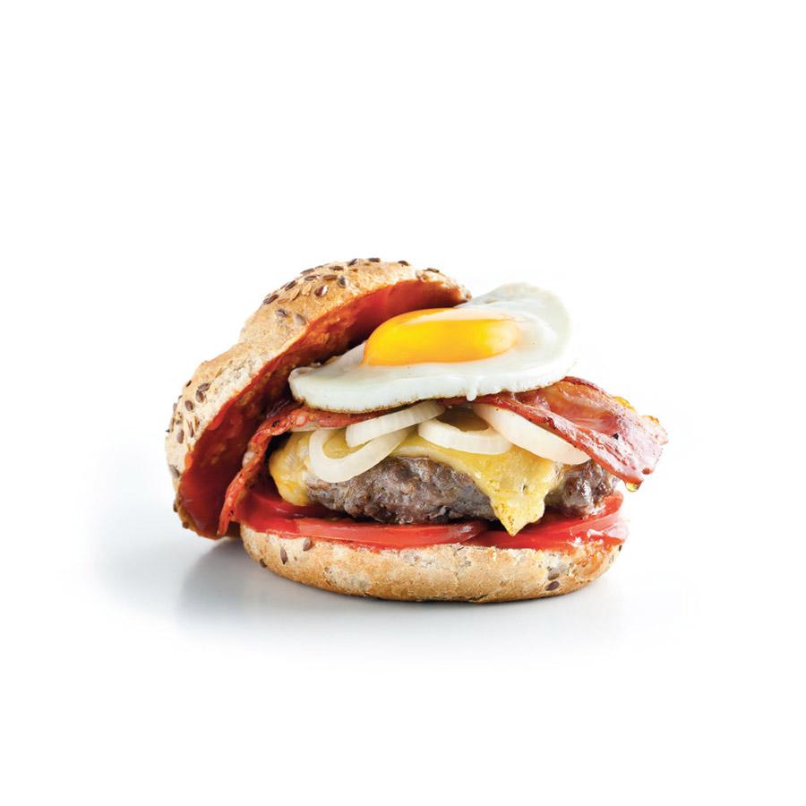 Burger s hovězím masem a vejcem