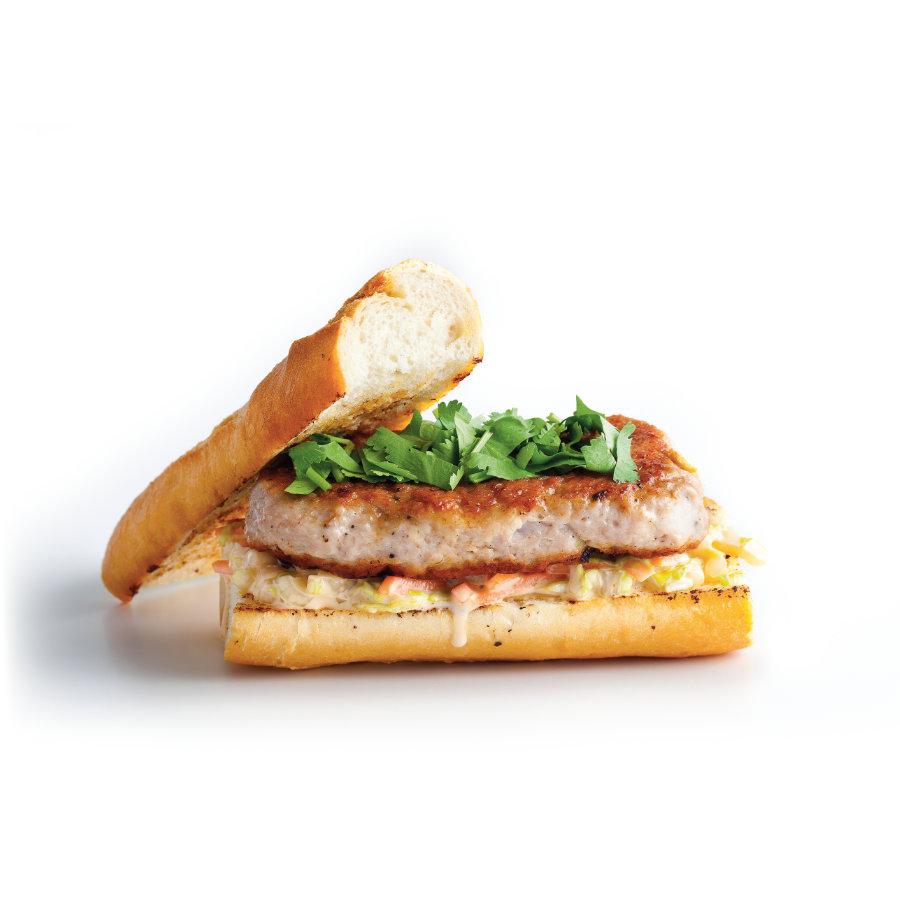 Burger svepřovým masem