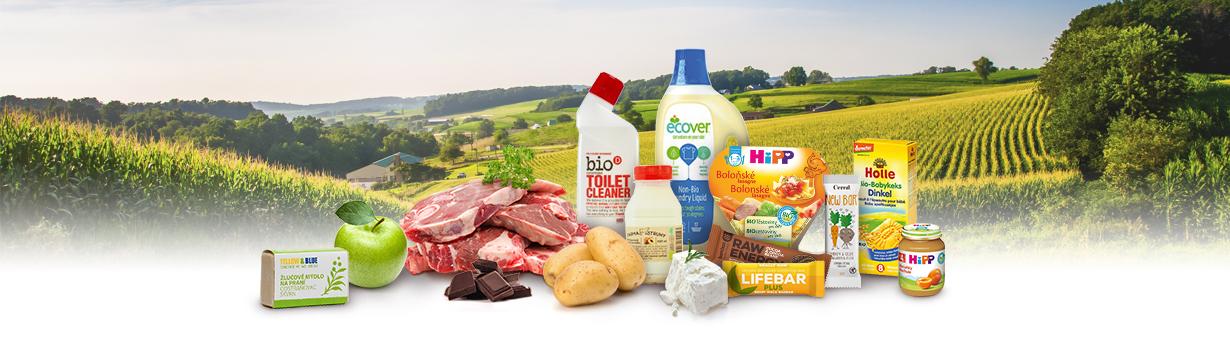 BIO a farmářské produkty na Rohlíku