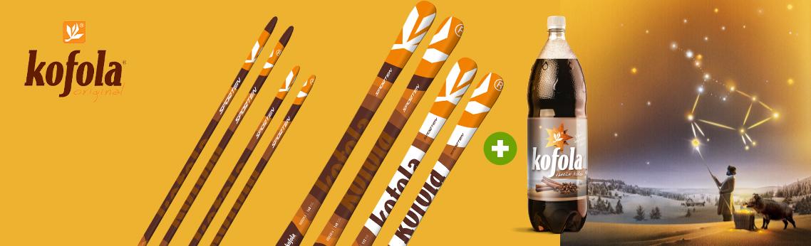 Vyhrajte limitovanou edici lyží Sporten v designu Kofola
