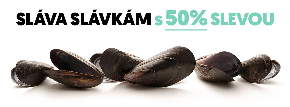 SLÁVA SLÁVKÁM S 50% SLEVOU