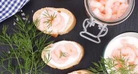 Chlebíčky s krevetami