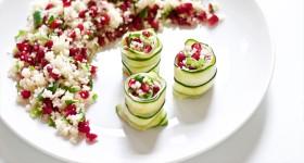 Kuskusový salát s granátovým jablkem a bylinkami