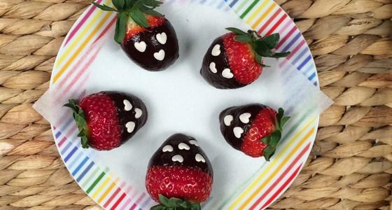 Valentýnské jahody v čokoládě