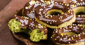 Donuty ze zeleného čaje