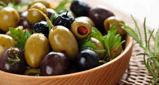 Marinované olivy