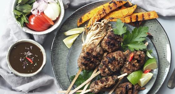 Grilované thajské kebaby