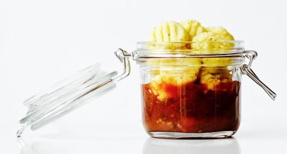 Polentové gnocchi s rajčatovou omáčkou