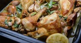 Pečené kuře s česnekem