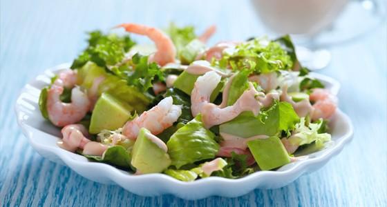 Salát z avokáda a krevet