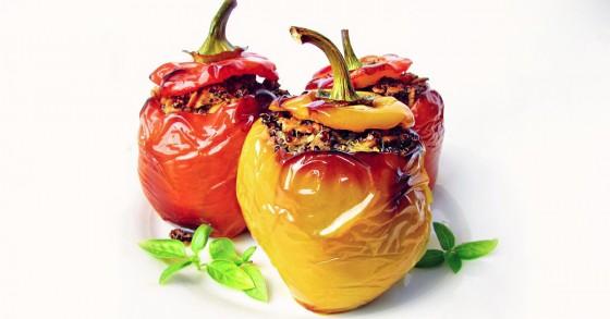 Plněné papriky s quinoou
