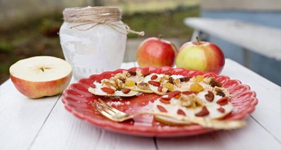 Zdobená jablečná kolečka