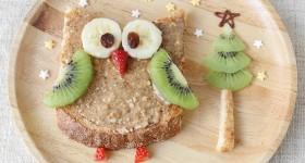 Sladká sovička s ovocem