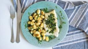 Filet Cod tresky s noky a bazalkovým pestem