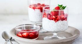 Chia pudink s jahodovým pyré (vhodné pro děti od 12 měsíců)