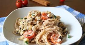 Celozrnné špagety s ricottou