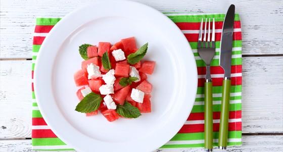 Salát s melounem a fetou
