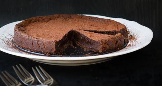 Čokoládový lanýžový koláč