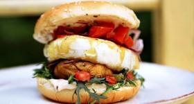 Burger se sýrem s bílou plísní