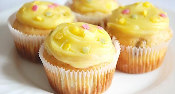 Muffiny s vanilkovým krémem