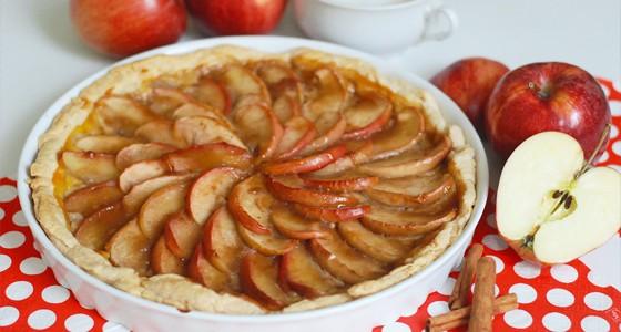 Jablečný koláč z listového těsta